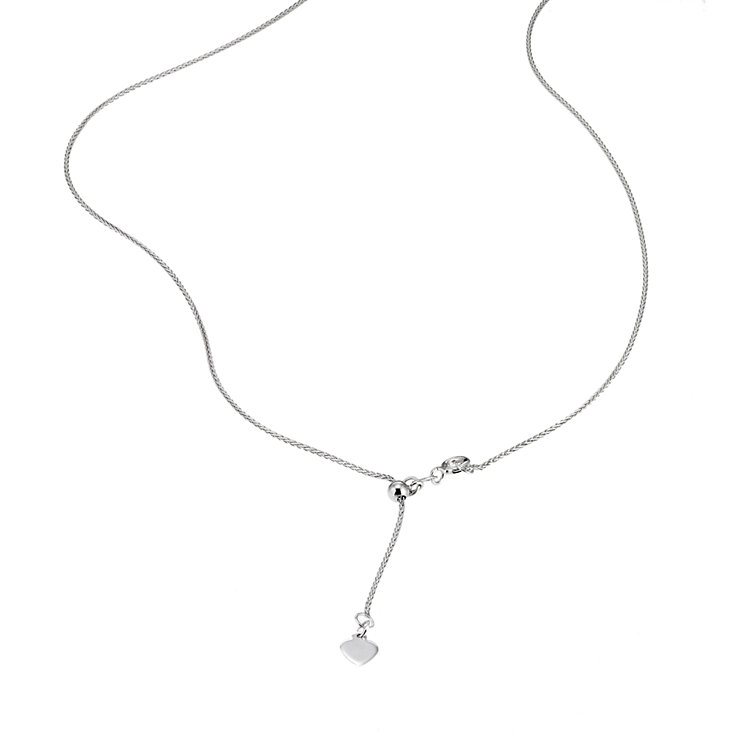 "Adjustable 9ct white gold spiga chain 20"" - Product number 6677037"