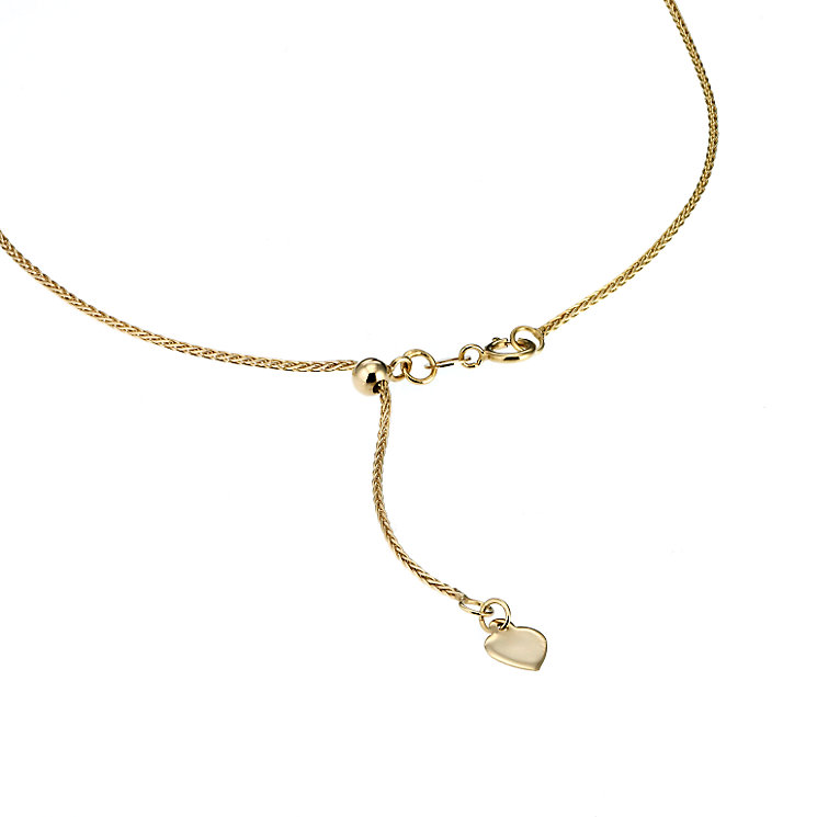 "Adjustable 9ct yellow gold spiga chain 20"" - Product number 6677045"