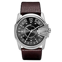 Diesel Mens Master Chief Gunmetal Dial Brown Strap Watch - Product number 6678785
