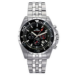 Rotary Aquaspeed Men's Chronograph Black Dial Bracelet Watch - Product number 6679129