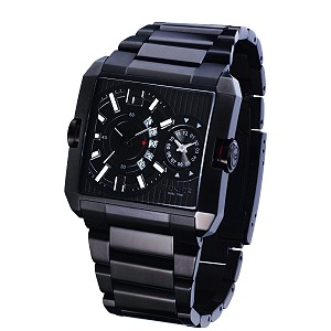 Police Rogue Men's Dual Time Black Bracelet Watch