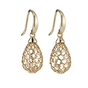 9ct gold mesh cage earrings - Product number 6693431