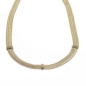9ct Yellow Gold Cubic Zirconia Collar Necklace