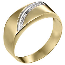 Men's 9ct Yellow Gold Diamond Set Ring - Product number 6702805
