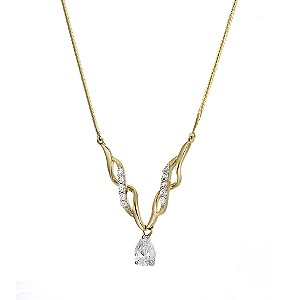 9ct Yellow Gold Cubic Zirconia Fancy Necklace
