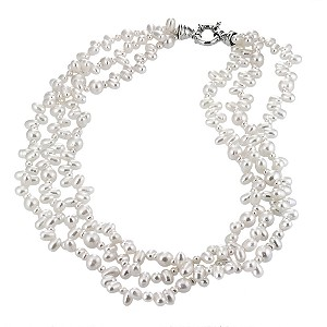 Cultured Freshwater Pearl Triple Strand Necklace