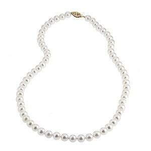 9ct Yellow Gold Certified Cultured Freshwater Pearl Necklace