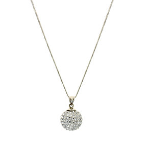 Sterling Silver Glitter Ball Pendant - Product number 6715001