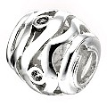 Truth Sterling Silver Wavy Ball Charm - Product number 6718477