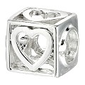 Truth Sterling Silver Open Box Heart Charm - Product number 6718531
