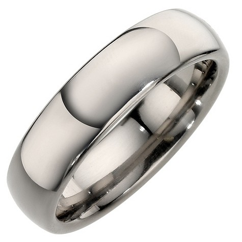 Titanium polished court ring