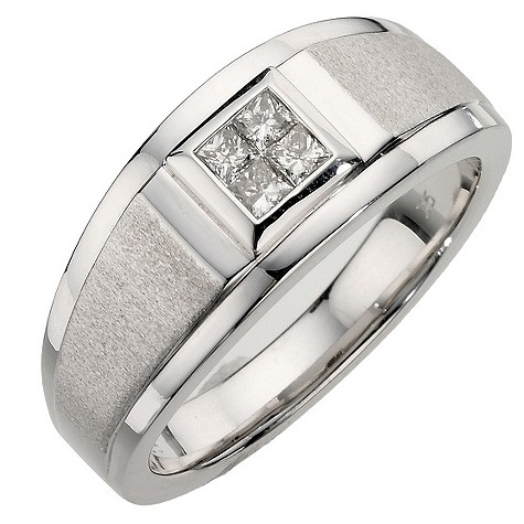 9ct white gold quarter carat diamond ring