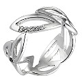 Hot Diamond Sterling Silver Diamond Leaf Ring Size L - Product number 6721656