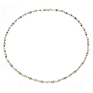 9ct Yellow Gold Herring Bone Twist Necklace