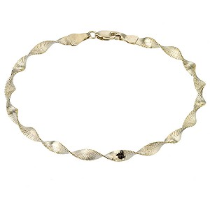 "9ct Gold 7.25"" Twist Herringbone Bracelet - Product number 6722261"
