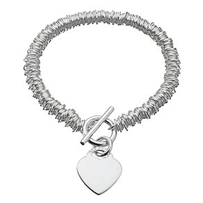 Sterling Silver Heart Charm Candy Bracelet - Product number 6724124
