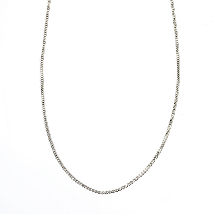 "Sterling Silver Ladies' Light Curb Chain 24"" - Product number 6726011"