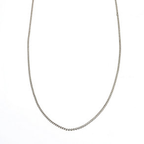Sterling Silver Ladies' Light Curb Chain 24