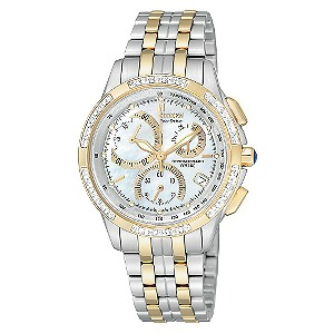 Citizen ladies' Eco-Drive stainless steel chronograph watch - Product number 6726453