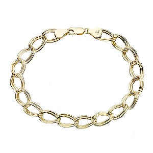 "9ct yellow Gold 8"" Double Oval Curb Bracelet - Product number 6728626"