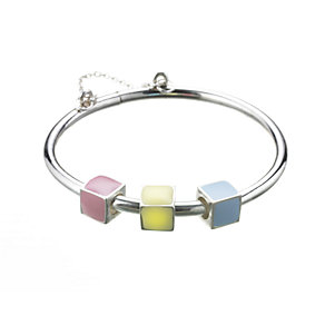 Sterling silver ABC bangle - Product number 6736793