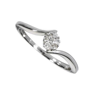 9ct white gold diamond ring Ernest Jones