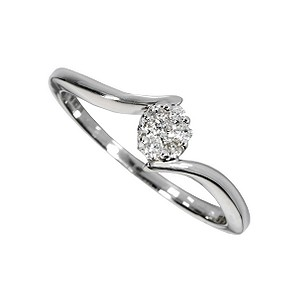 9ct white gold diamond ring - Product number 6751113