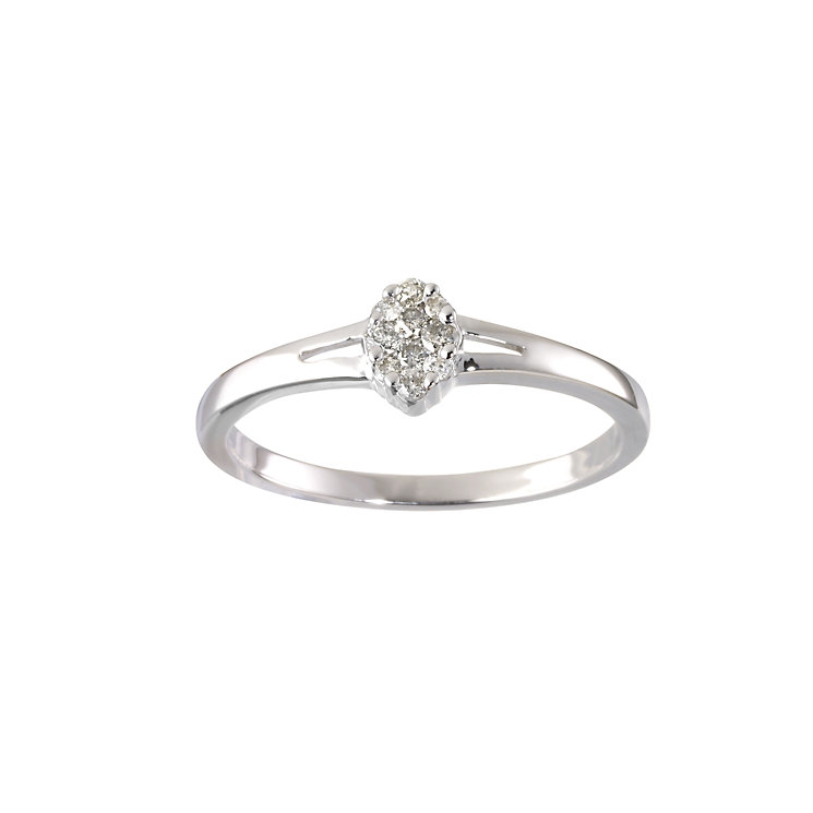 9ct white gold diamond ring - Product number 6751245