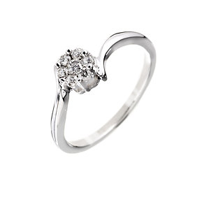9ct white gold & diamond dress ring - Product number 6751385