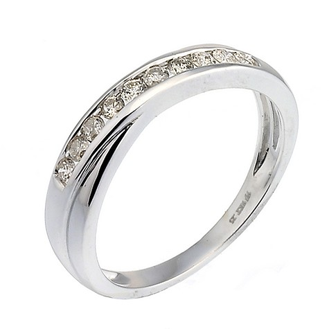 9ct white gold quarter carat channel set diamond ring