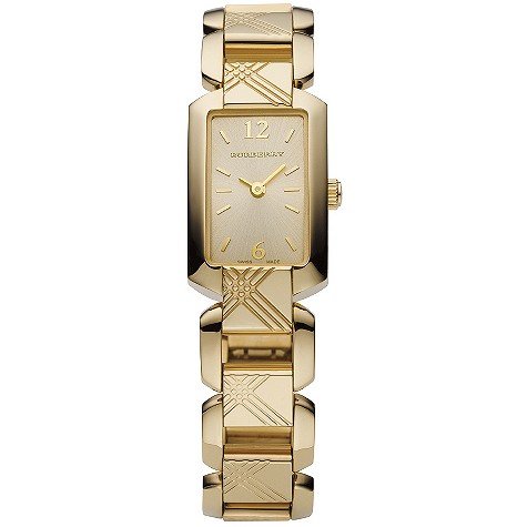 ladies gold-plated bracelet watch