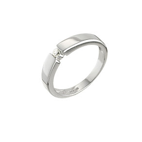 9ct white gold diamond solitaire ring - Product number 6753523