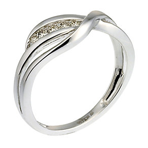9ct white gold diamond ring - Product number 6754198