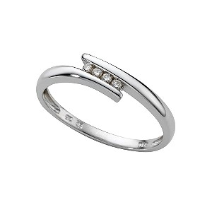 9ct white gold diamond ring - Product number 6754724