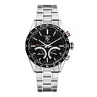 TAG Heuer Carrera men's stainless steel black bracelet watch - Product number 6756700