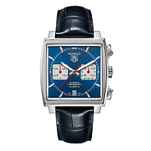 TAG Heuer Monaco men's automatic blue strap watch - Product number 6756719