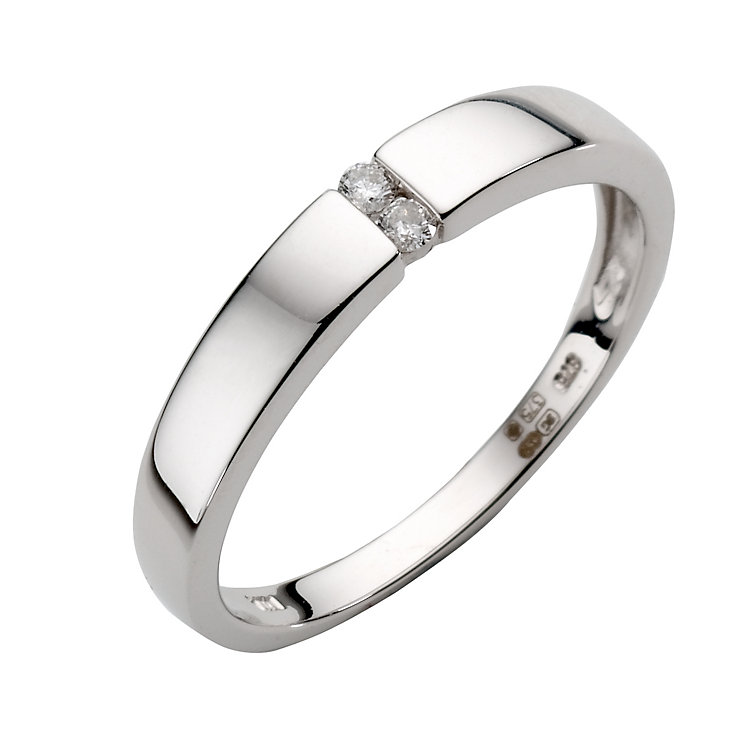 9ct white gold diamond ring - Product number 6756735