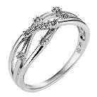 9ct white gold diamond ring - Product number 6757928