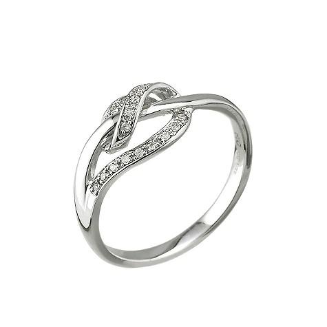 9ct white gold diamond wrap around ring