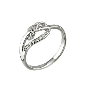 9ct white gold diamond wrap around ring - Product number 6759378