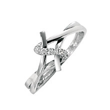 9ct white gold diamond ring - Product number 6759491