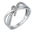 9ct white gold 15pt diamond ring - Product number 6760155