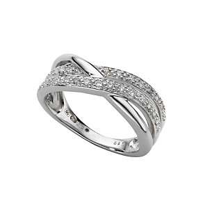 9ct white gold diamond ring - Product number 6761216