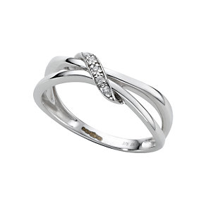 9ct white gold diamond ring - Product number 6761348