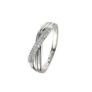 9ct white gold diamond ring - Product number 6762018