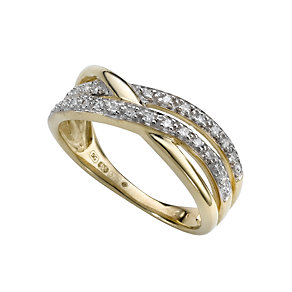 9ct gold diamond ring - Product number 6762409
