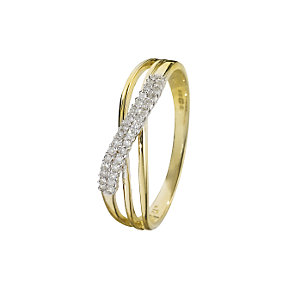 9ct gold diamond ring - Product number 6762905
