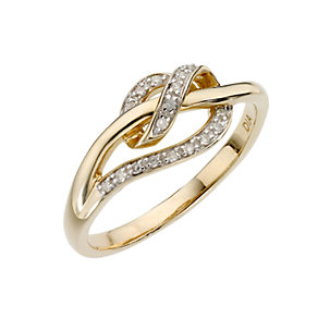 9ct gold diamond set wrap around ring - Product number 6763030
