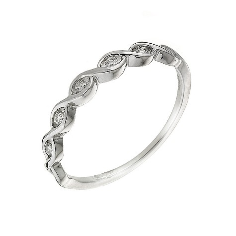 9ct white gold eternity ring with diamonds