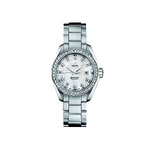 Omega Seamaster ladies' diamond set bezel bracelet watch - Product number 6764657